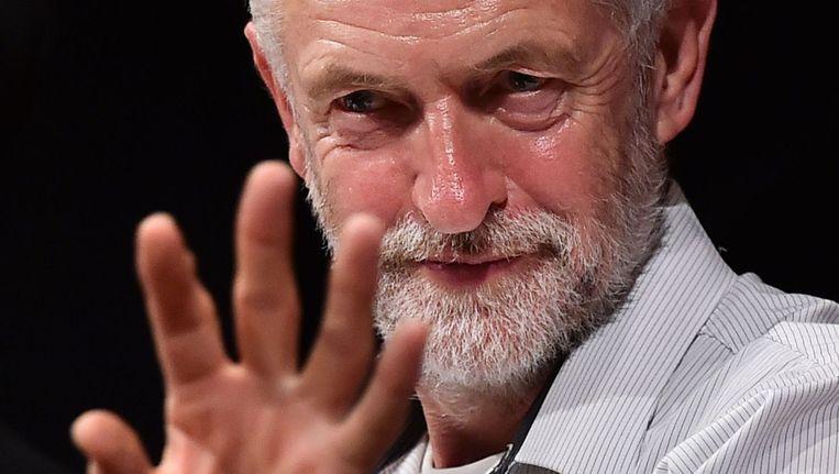Jeremy Corbyn is een uiterst linkse kandidaat voor de leiderschapsverkiezingen van de Britse Labourpartij. Beeld afp