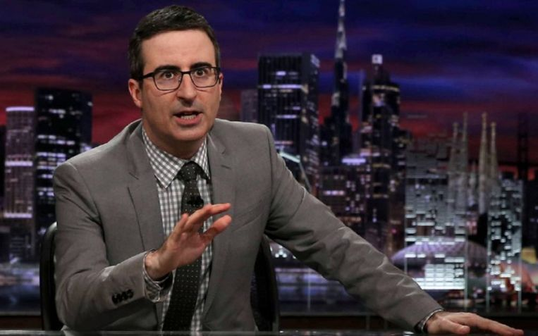 John Oliver in 'Last Week Tonight'.  Beeld kos