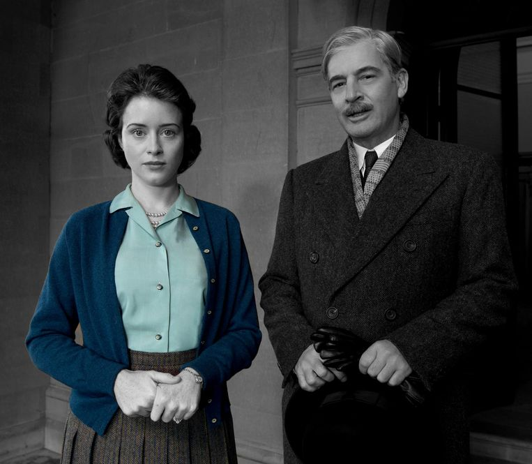 Mode in de Britse tv-serie The Crown. Beeld Netflix