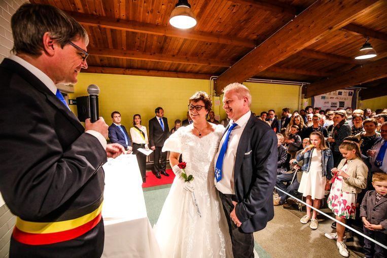 Francky Jonckheere (52) en zijn vrouw Carine Mattheus (50)