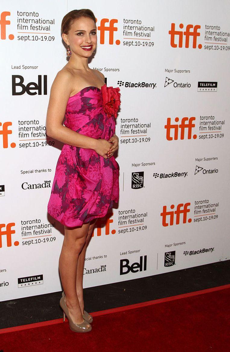 Natalie Portman in een Lanvin-ontwerp door Alber Elbaz. Beeld Getty