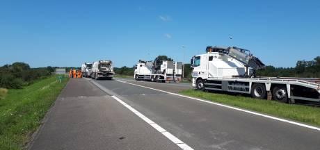 Werk aan snelweg A348 is begonnen, snelweg dicht van Velp naar Dieren