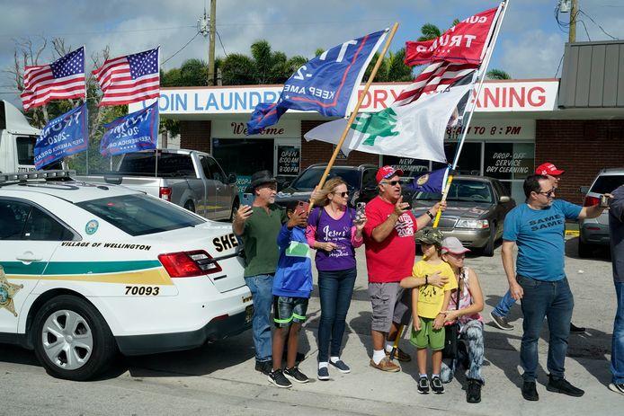 Trumpfans in Palm Beach.