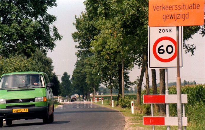 Foto uit 1999, toen de veiligheid op de Lage Zegstraat de gemoederen al bezighield.