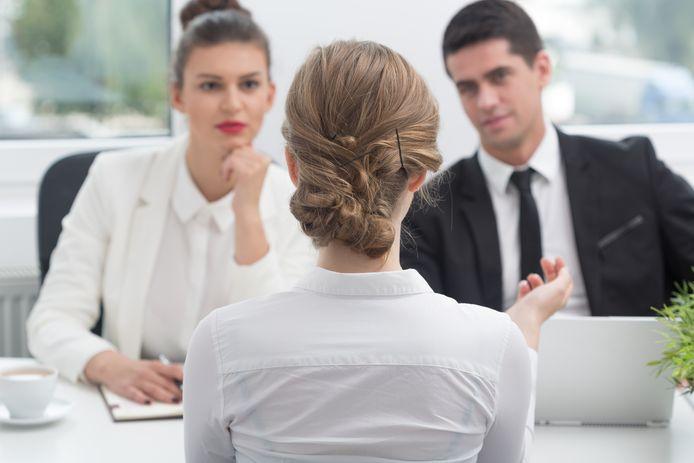 Een sollicitatiegesprek