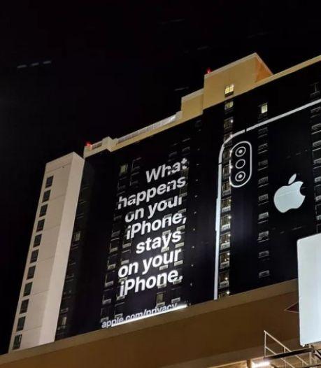 Apple steekt de draak met concurrentie met giga-advertentie pal naast CES