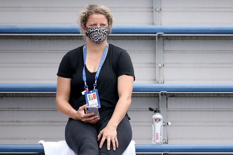 Kim Clijsters in New York.  Beeld AFP