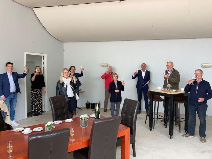 Ondertekenaars van de intentieverklaring die moet leiden tot het Cultuurhuis in Udenhout