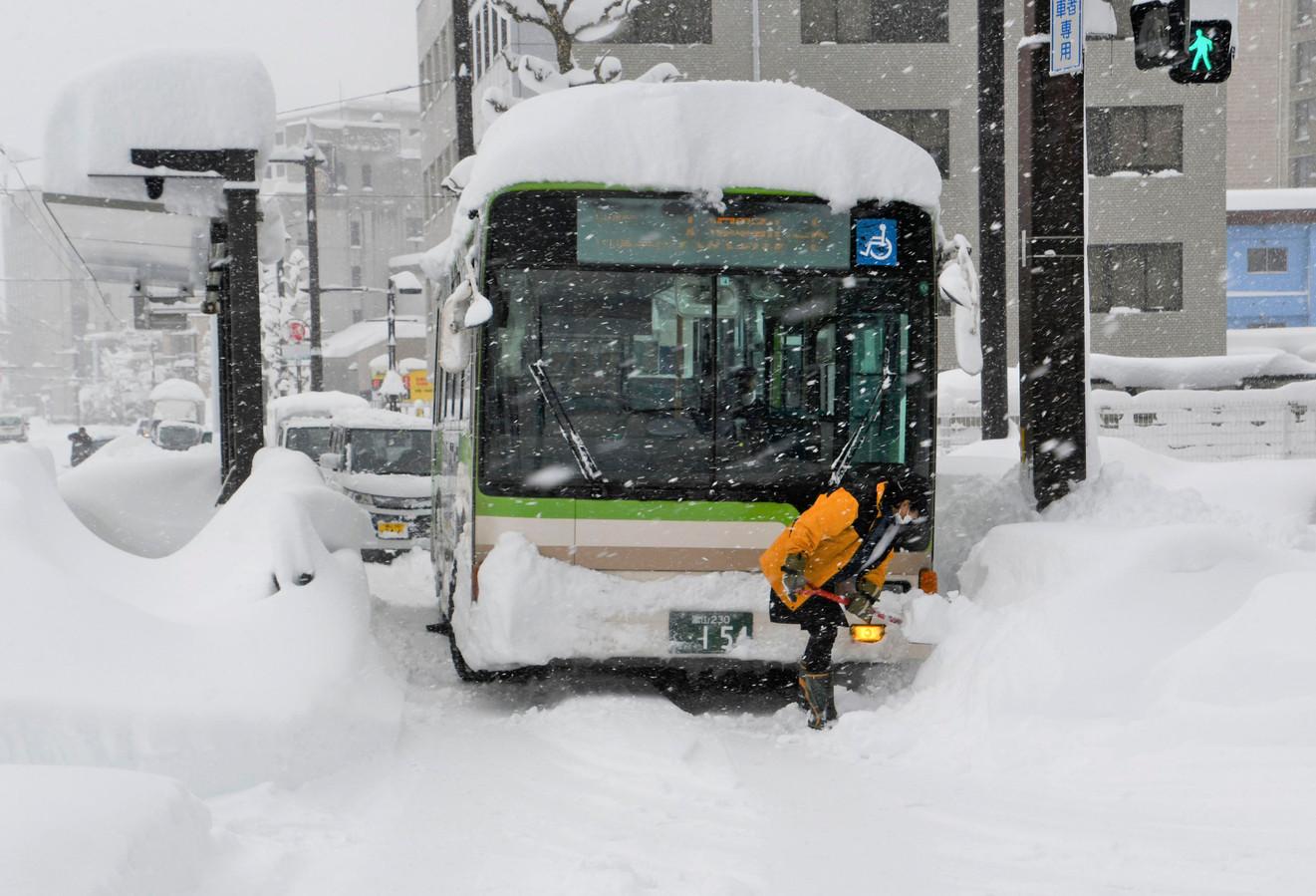 Een bus in Toyama