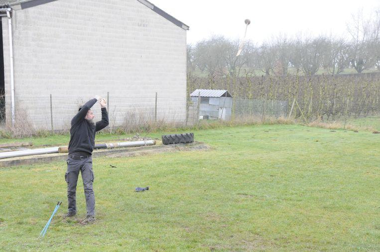 De mannen oefenen volop voor het WK.