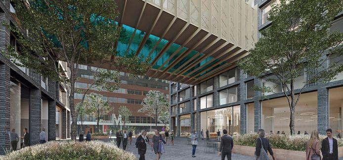 De plannen voor Hotel Chicago zijn aangepast. Het zwevende zwembad is geschrapt in het ontwerp.