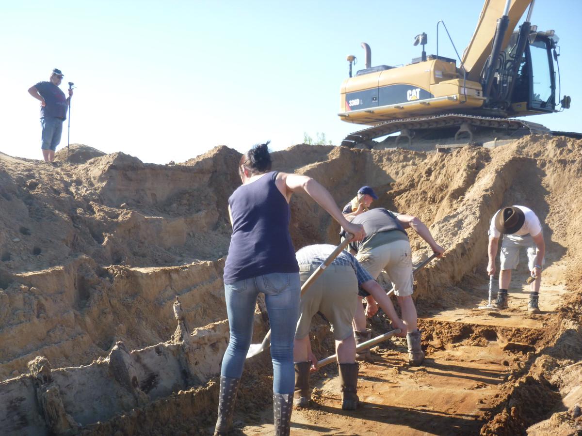 Vrijwilligers aan het werk.