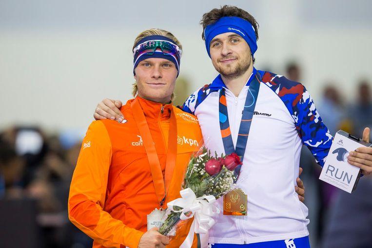 Koen Verweij (L) en Denis Joeskov. Beeld anp