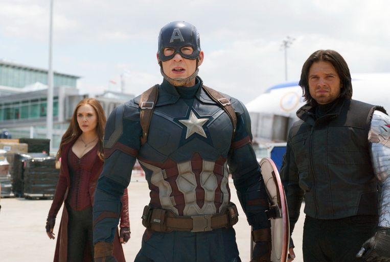 Een beeld uit 'Captain America: Civil War'. Beeld AP