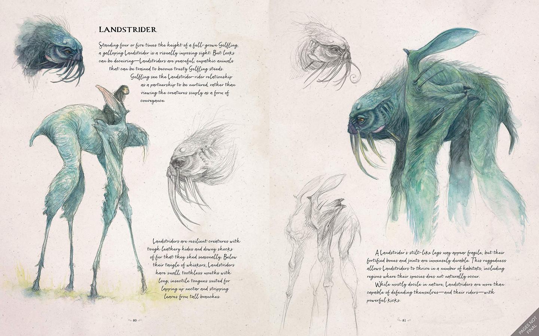 De Landstryders, een van de manieren van vervoer in de Dark Crystal.