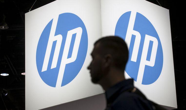 Het logo van computer- en printerfabrikant HP. Beeld REUTERS