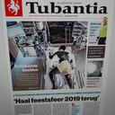 De voorpagina vanTubantia van 7 mei stuit het echtpaar Boswijk tegen de borst