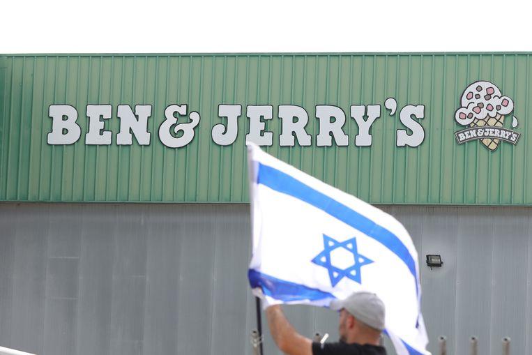 Het besluit van Ben & Jerry's om geen ijs meer te verkopen in de bezette gebieden maakt veel los in de Israëlische politiek.  Beeld EPA