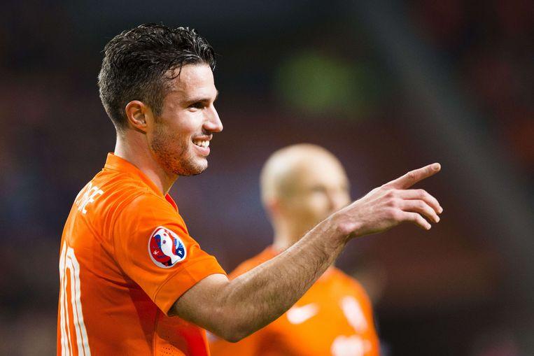 Van Persie kan zaterdag de kaap van 100 wedstrijden ronden bij Oranje Beeld AFP