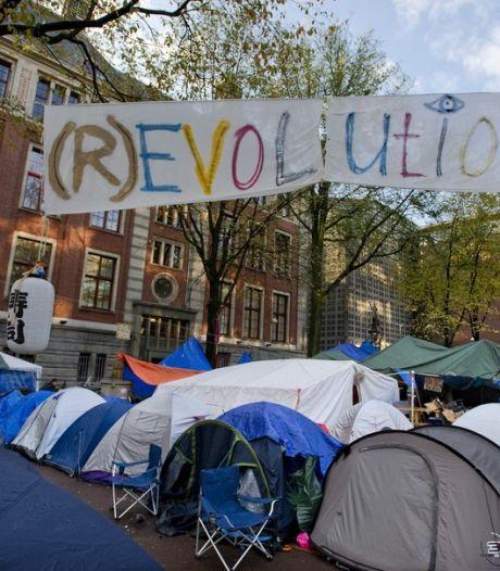 Occupiers gaan door ondanks kou