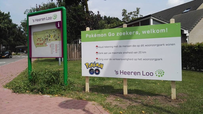 Een speciaal bord voor de Pokémon-spelers, toen ze nog welkom waren bij Schuylenburg.
