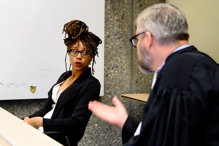 Clarice Gargard met haar advocaat Sidney Smeets tijdens de zitting. Beeld Hollandse Hoogte /  ANP