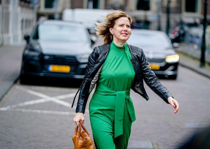 Demissionair minister Cora van Nieuwenhuizen (VVD, Infrastructuur) in Den Haag.