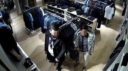 Koppel dat kleding van Armani steelt, online te kijk gezet