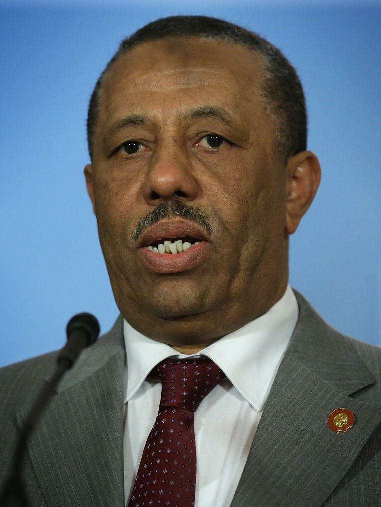 Premier Al-Thinni Beeld Foto AFP