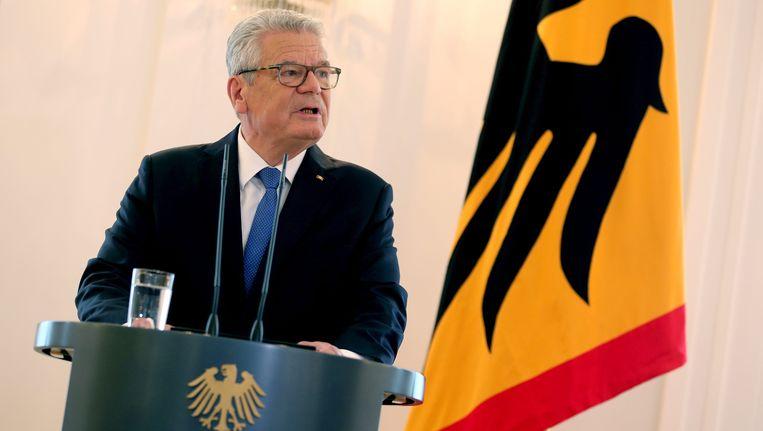 Joachim Gauck kondigde vandaag aan dat hij zich niet opnieuw verkiesbaar stelt als bondspresident. Beeld EPA