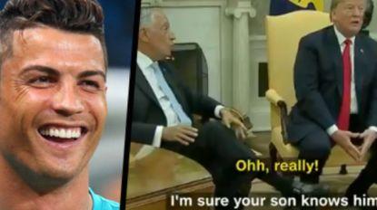 Portugese president leert Trump Cristiano Ronaldo kennen, waarop 'The Donald' uitpakt met vraag die zijn collega niet meteen zag aankomen