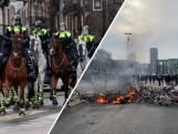 Politie beëindigt gewelddadige demonstraties in Amsterdam en Eindhoven