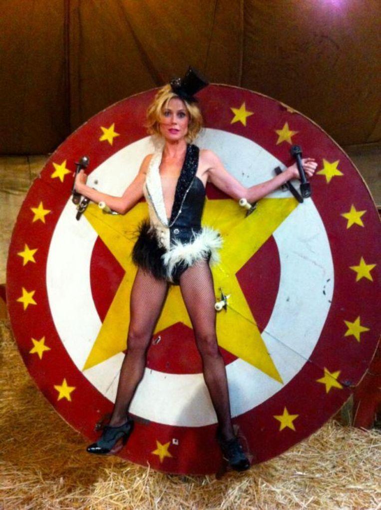 Julie Bowen, Crazy Circus Lady Beeld Julie Bowen/Twitter