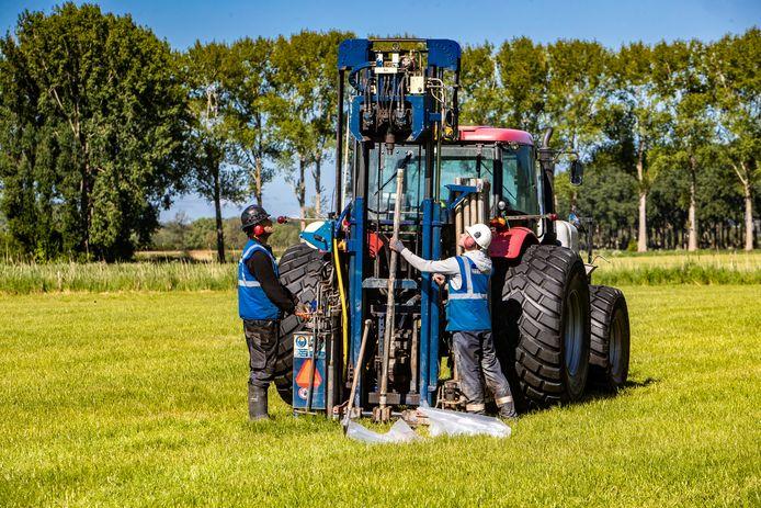 Een seismisch onderzoek in de buurt van Zutphen.