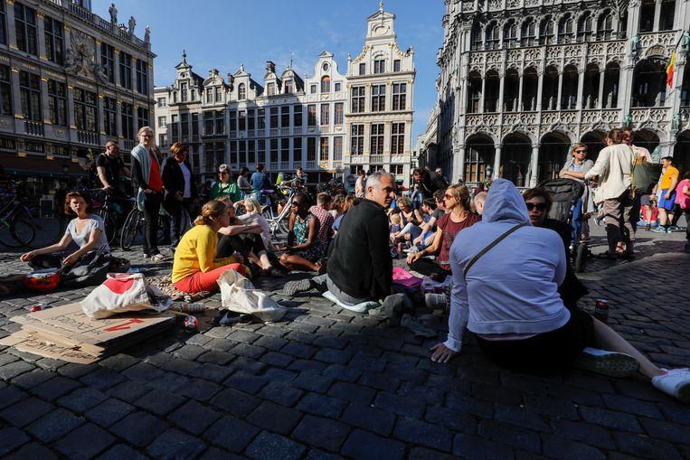 De Grote Markt in Brussel. Beeld BELGA