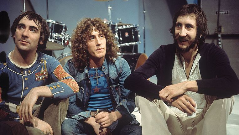 The Who in 1971 v.l.n.r.: Keith Moon, Roger Daltrey en Pete Townsend Beeld anp