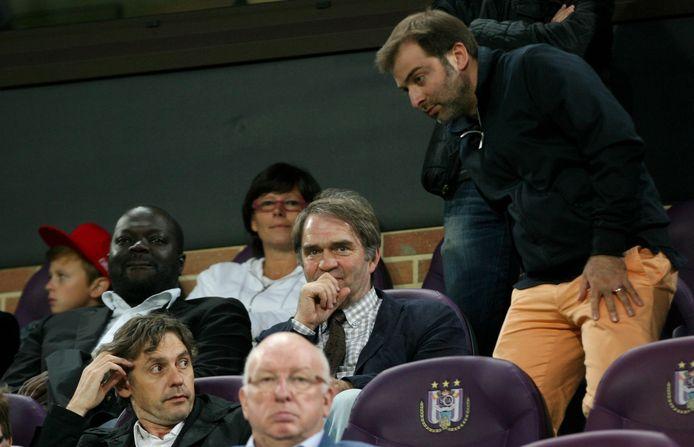 Samen met Mogi Bayat in de tribunes van het Vanden Stock-stadion in augustus 2013