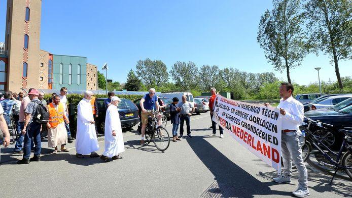 Tijdens een protest in Ede vorige maand.