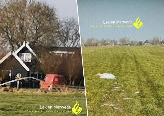 Wijkagenten van Molenlanden zijn op zoek naar de bestuurder van deze rode Ford-bus. Volgens de politie reed deze persoon afgelopen dinsdag in het dorp Wijngaarden bewust een zwaan dood.
