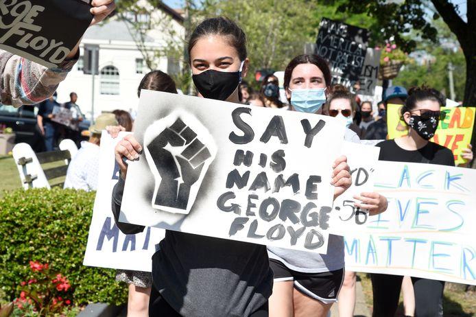 Demonstranten in New York
