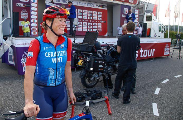 Kirsten WIld nog bij aanvang van de Simac Ladies Tour.