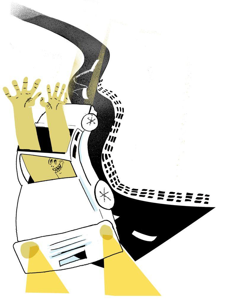 Ribbelstroken geven je de illusie dat je sneller rijdt, waardoor je gaat vertragen. Beeld Nina Vandeweghe