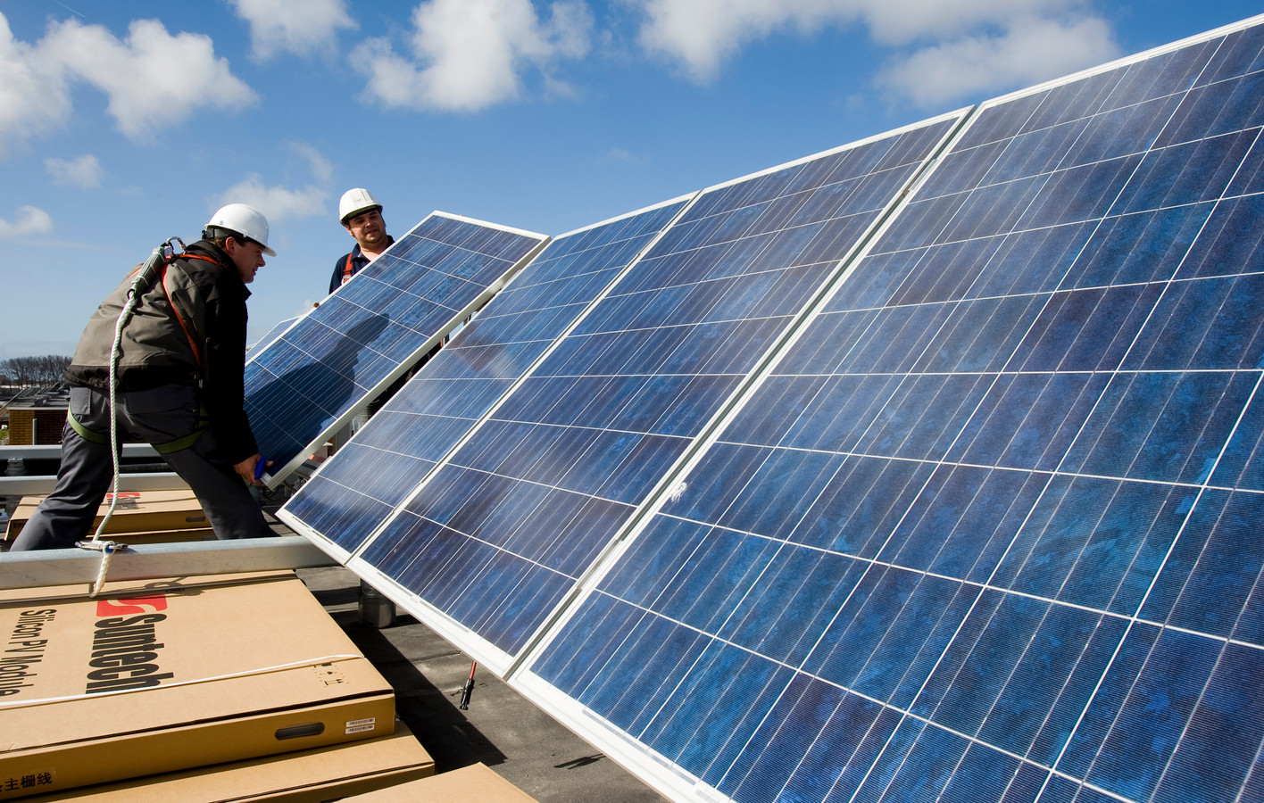Nu komen kleine bedrijfjes vaak niet in aanmerking voor groene subsidies waarmee ze bijvoorbeeld zonnepanelen kunnen aanschaffen.