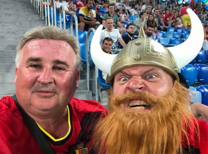 Dimitri Haikin (à gauche) suit les Diables partout durant l'Euro