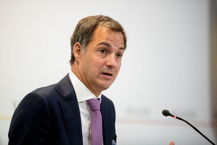 Le Premier ministre Alexander De Croo, fin septembre, à Bruxelles