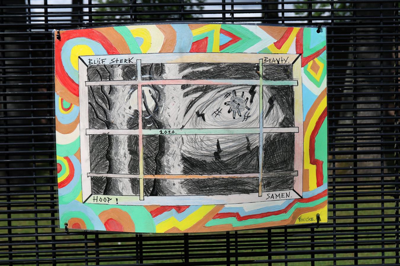 De gevangen vroegen zelf om hun boodschappen zichtbaar te maken.