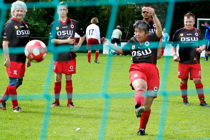Foto ter illustratie. Een eerdere editie van het G-voetbaltoernooi van Excelsior.