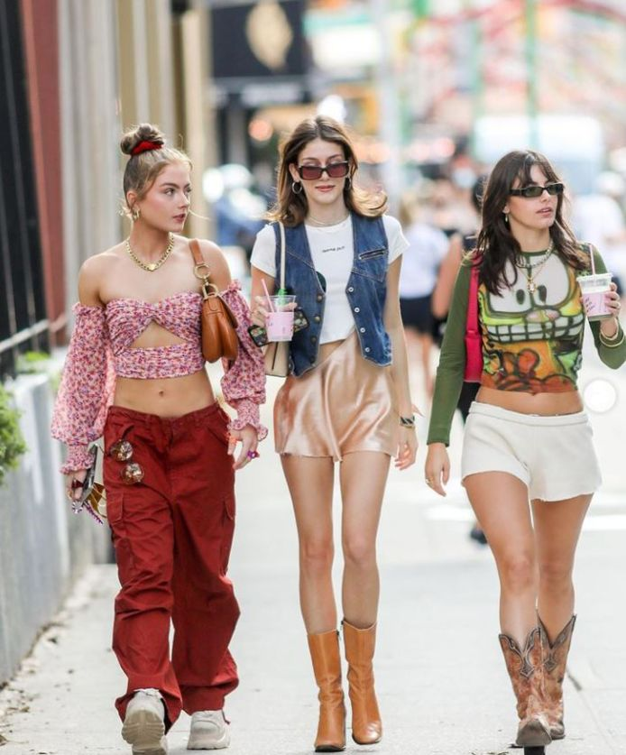 Amanda Pavillard, Olivia Rouyre et Lydia Campanelli dans les rues de New York.