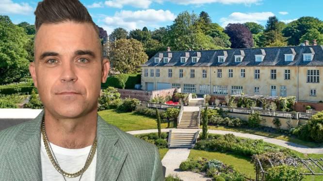 BINNENKIJKEN. Robbie Williams zet Engels landhuis te koop voor bijna 8 miljoen euro
