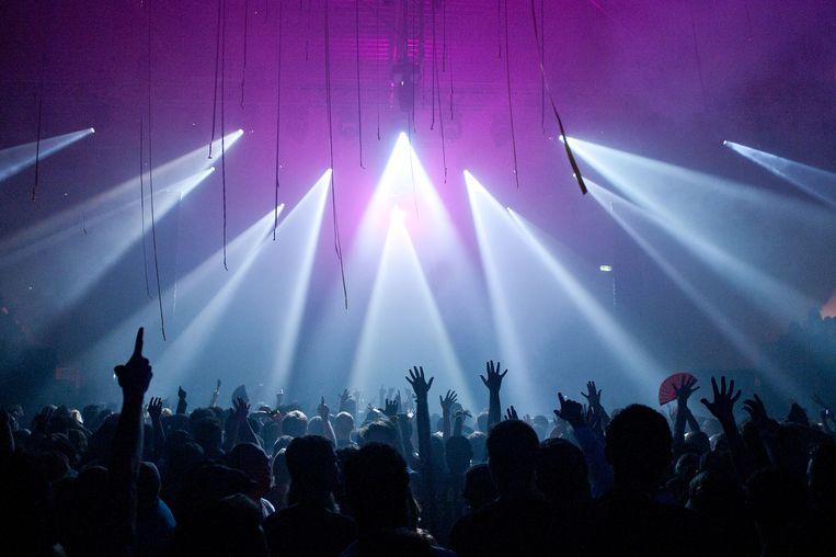 Een optreden van dj David Guetta in Amsterdam Beeld ANP